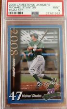 2008 Jamestown Jammers, Michael Stanton, #47, Rookie, Team Set card, PSA 9