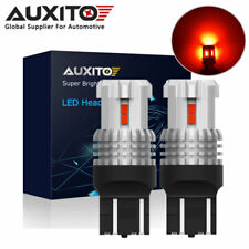 2X AUXITO 7443 7444 7440 T20 12 LED Brake Tail Stop Indicator Light Bulb Red