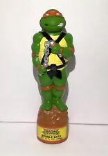 Vintage Teenage Mutant Ninja Turtles Bubble Bath Container 1989 Michelangelo