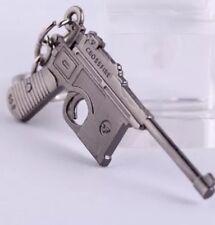 6 cm Walter pistolet P-38 Porte-clé Bijoux En Acier Inoxydable pistolet