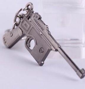 6cm Walter P-38 Pistol Keyring Jewellery Stainless Steel Gun