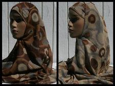 BROWN Circle Pashmina Shayla Women's Fashion Scarf Abaya 27 x 66 RAMADAN Hijab