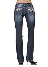 "MISS ME Jeans Spotted Cow Faux Pearl Embellished Pockets Sz 30"" JW5188B4"