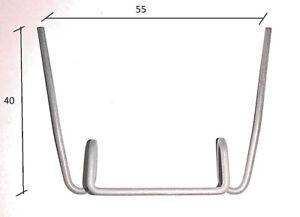 50 Gewächshausklammern extra groß , spezial Clips lange Federbeine 43 x 55