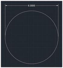 "1pc Acrylic Plastic (plexiglass)  Round  Sheet  - 1/8"" x 6""  Circle  -  Clear"
