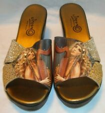 ICON WEDGE SHOES MUSIC OF THE SPHERES LADY W/ LYRE - USA - SIZE 11   W/ BOX