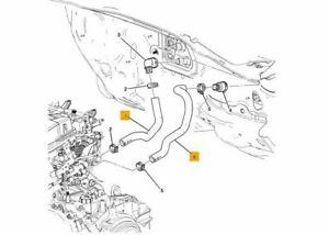 Genuine Holden New Heater Hoses Inlet & Outlet TM Barina 2012 1.6 Auto Only