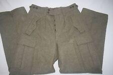 Wilh. Schwarz Cargo Wool Pant Military Heavy Weight Men 30x31 Green NEW