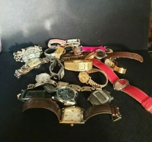 Large Job Lot Of Mixed Watches ,men's, ladies untested, mixed brands & styles