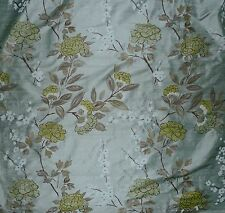 DESIGNERS GUILD Blossoms Floral Silk Blue Green Brown Panel New