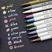 10x Metallic Pencil Set Marker Album Dauber Sketch Water Color Marker Ball Pen.