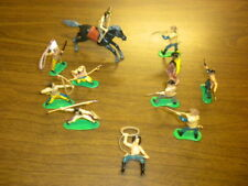"COWBOYS & INDIANS vintage playset lot China/painted 2.5 to 3"" soft plastic LOT 3"