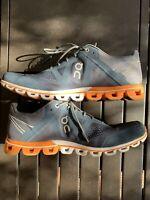 On Cloud Flyer Mens Navy Blue Orange Swiss Running Sneakers Shoes 11.5 GU