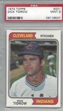 1974 Topps baseball card #231 Dick Tidrow, Cleveland Indians graded PSA 9 MINT