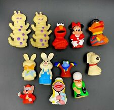 vintage mixed finger puppets lot 12 Rare ones Disney Sesame Street And More
