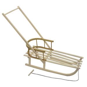 universale RÜCKENLEHNE Lehne Sitzhilfe aus Holz für Schlitten Rodel