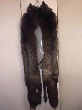 Vintage 1940's Polar Furs Limited Furriers Silver Fox  2 Pelts Long Stole Wrap