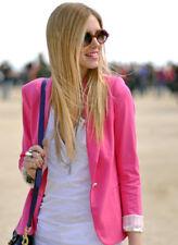 AU Womens Navy Pink Blazer Size 10 12 14, Office Jacket Slim Fit Long Sleeve bp5