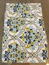 CYNTHIA ROWLEY PLACEMATS SET OF 4 WHITE GREEN GRAY FLORAL SQUARE