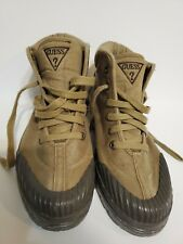 Guess Lace Up Rain Boots size 6 1/2 Brown tan taupe mud snow hiking trail