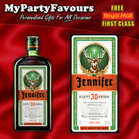 Novelty Personalised Jager Bottle Label - Perfect Birthday/Thank you Gift!