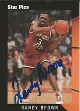 Randy Brown 1991 Star Pics Autograph RC #45 JSA Bulls New Mexico State
