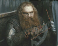 JOHN RHYS-DAVIES SIGNED 'THE LORD OF THE RINGS' GIMLI 8x10 MOVIE PHOTO COA ACTOR