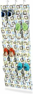 Over The Door 24 Pocket Shoe Organizer Space Saver Scarves Jewelry Toys Socks