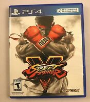 Street Fighter V Sony PlayStation 4 2016 Complete Arcade Fighting Game