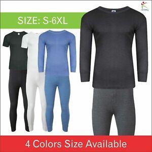 New Full Half Sleeve Men Thermal Long Johns Top Bottom Underwear Trouser T Shirt