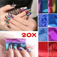 20X Foils Finger DIY Nail Art Sticker Decal Water Transfer Stickers Tips Sets