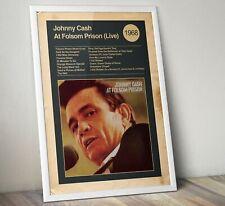 More details for johnny cash album print, album cover art print, folsom prison print, wall art