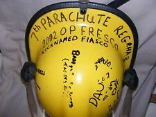 OPERATION FRESCO FIRE HELMET VISOR 7TH PARACHUTE REG GREEN GODDESS WEST GLAM