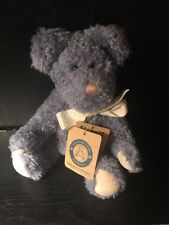Boyds Bear Light Blue Bear With Tag Perriwinkle P. Snicklefritz Plush