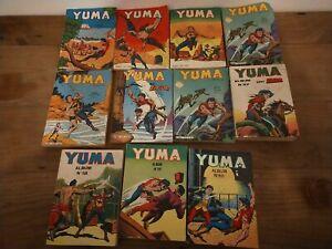 LOT 11 BD albums POCHE YUMA MENSUEL vintage ANNÉES 1980
