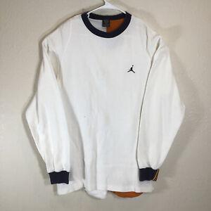 Nike Air Jordan Shirt XL Waffle Long Sleeve Men's 2005 20th Anniversary White