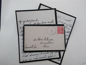 Florida: Gary 1902 Mourning Cover + Letter, DPO Hillsboro Co
