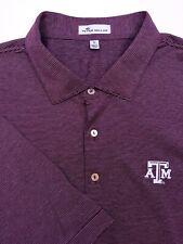 New listing PETER MILLAR Men's XL Texas A&M Aggies Maroon White Striped Polo Golf Shirt NWOT