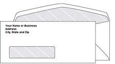 2500 Custom Printed #10 Security Tinted Window Envelopes