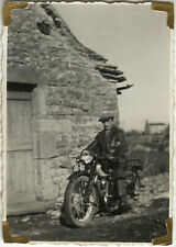 PHOTO ANCIENNE - VINTAGE SNAPSHOT - MOTO MOTOCYCLETTE TERROT - MOTORBIKE 1