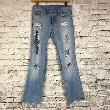 A/X ARMANI EXCHANGE Women's Destroy Distressed Jeans Size 2 Short AX152 5J24ZCT