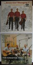 2 KINGSTON TRIO Records - Here We Go Again, From The Hungry i