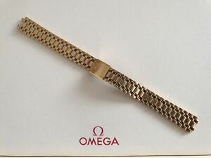 NOS Omega Seamaster Monte Carlo Gold Plated Bracelet for Cases 796.0842/0843