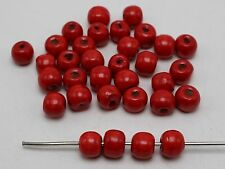 200 Red 10mm Round Wood Beads~Wooden Beads