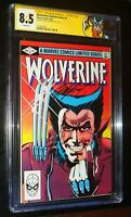 Wolverine Limited Series #1 1982 Marvel Comics SS CHRIS CLAREMONT CGC 8.5 VF+