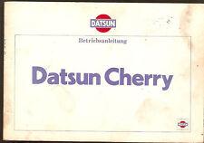 Betriebsanleitung Nissan Datsun Cherry Sunny Cherry Handbuch Ausgabe 1980