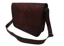 Mens Vintage Leather Messenger Bag 17 Inch Laptop Satchel Crossbody Shoulder Bag