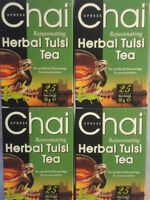 4 x BOXES TULSI HOLY BASIL HERBAL TEA 100 TEABAGS