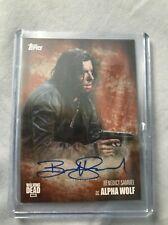 The Walking Dead Season 5 Autograph Card Bendict Samuel as Alpha Wolf 79/99