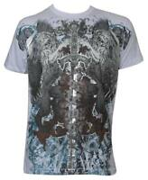 Konflic Men's Lions & Sword Rare Greed MMA Muscle T-Shirt